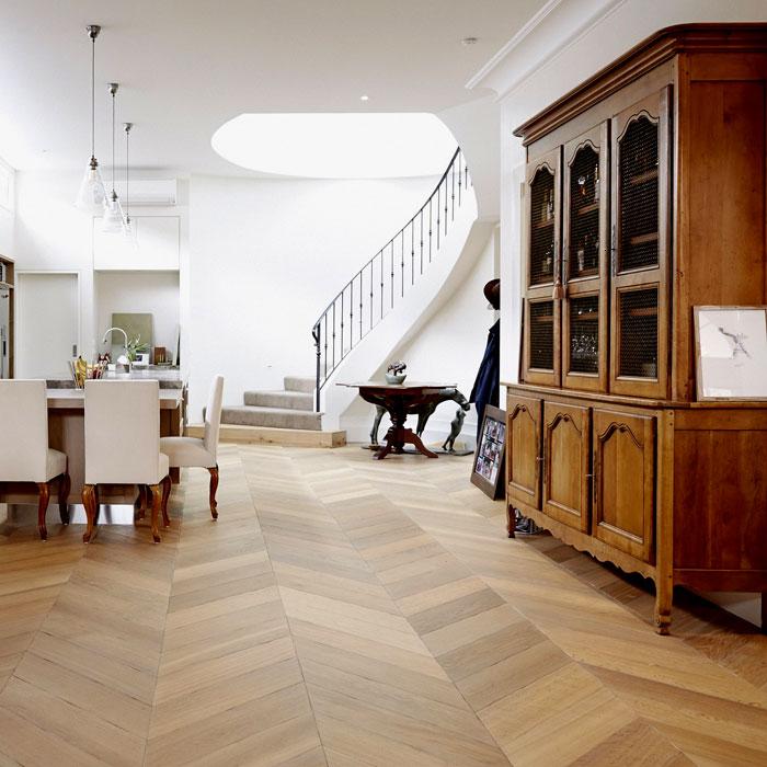Windsor Parquet French Oak Chevron Flooring